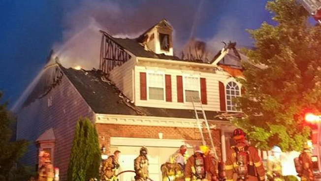 Lightning May Be Cause of Early-Morning Howard County House Fire