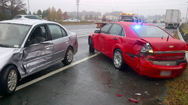 Driver Charged After Crashing Into Virginia State Trooper's Cruiser