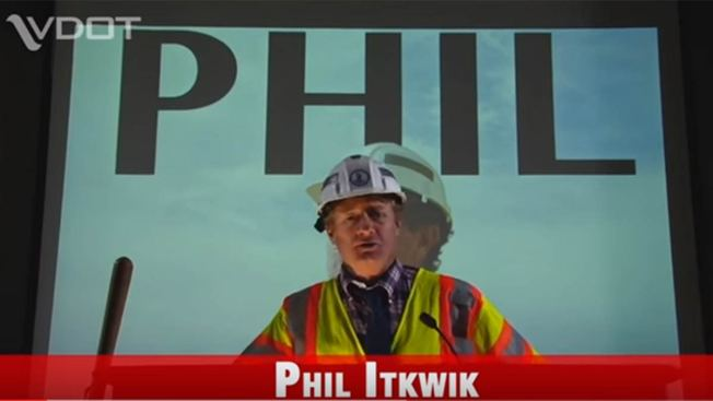 'Phil' the Pothole Hunter Stars in VDOT Video