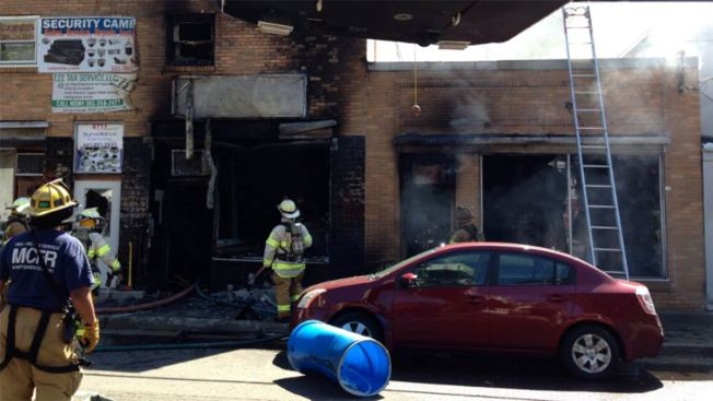 Firefighters Battle Blaze at Maryland Strip Mall Store