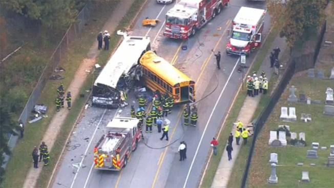 Dead in Baltimore School Bus-City Bus Crash
