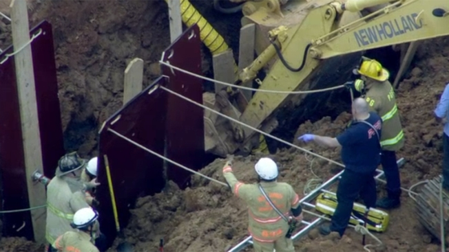 Crews Free Man Trapped in Muddy Trench in Greenbelt