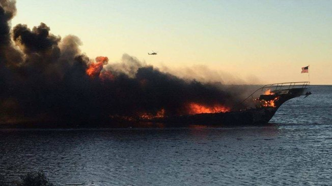 Passengers swim to safety after fire on casino shuttle boat