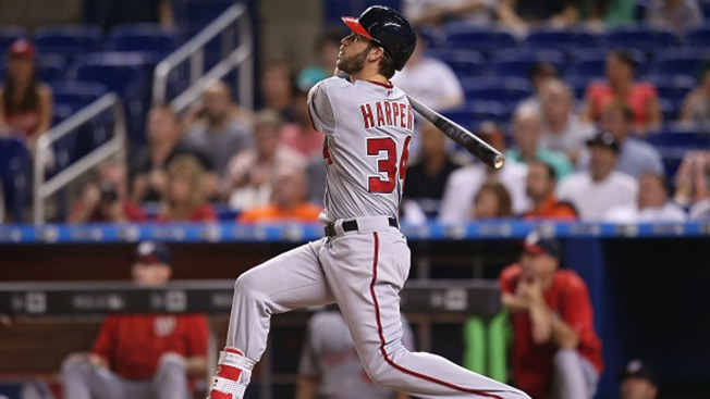 Harper Homers Twice Into Upper Deck, Nats Beat Marlins 7-2