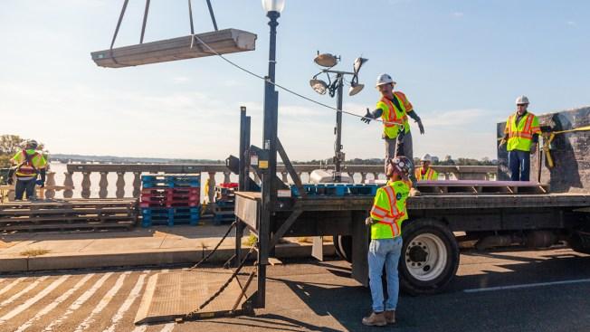Arlington Memorial Bridge to Further Reduce Lanes Overnight Until Fall