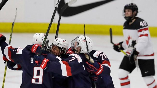 USA  downs Canada 2-0 at world championship