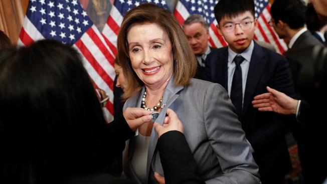 Pelosi Welcomes Hong Kong Pro-Democracy Activists to Capitol