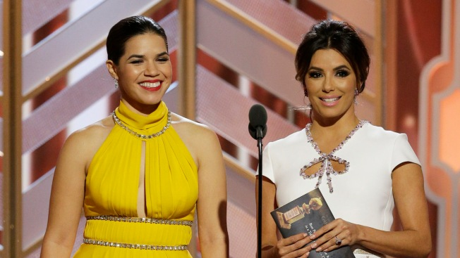 America Ferrera and Eva Longoria Hilariously Set Everyone Straight on Who They Are (and Aren't) at the Golden Globes