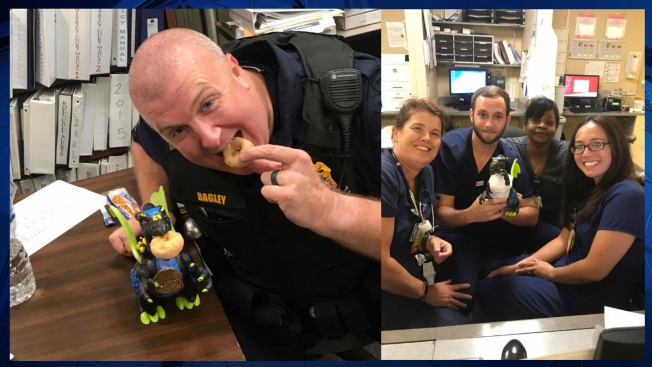 Maryland Police Officer Finds Girl's Stolen Toy, Takes It to ER to Fix 'Broken Arm'