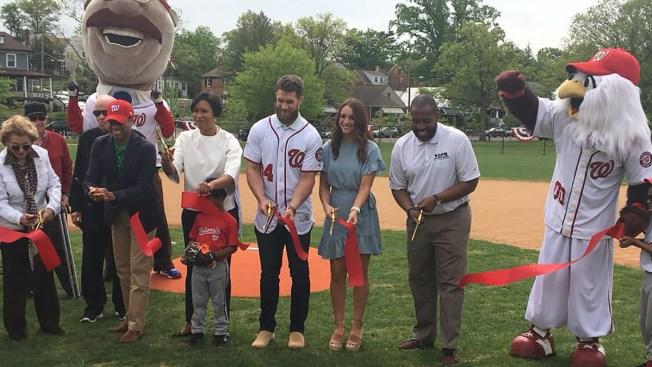 Bryce Harper Helps to Dedicate Namesake DC Baseball Field