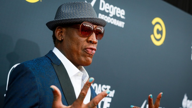Dennis Rodman Accused of Stealing 400-Pound Amethyst Crystal From Yoga Studio