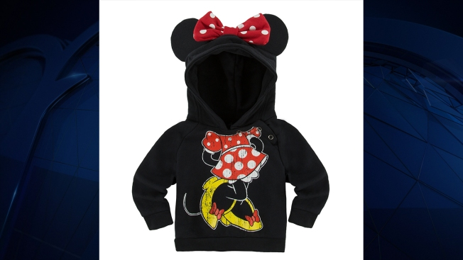 Disney recalls Minnie and Mickey sweatshirts