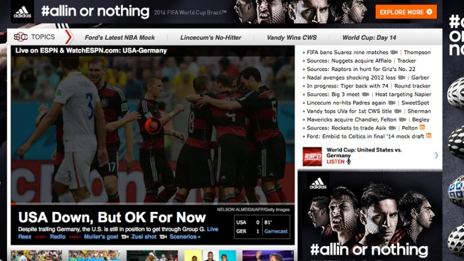 World Cup Fans Bring Down ESPN Streaming Service During U S