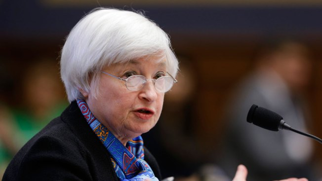 Wall Street closes higher after Fed chair Yellen's remarks