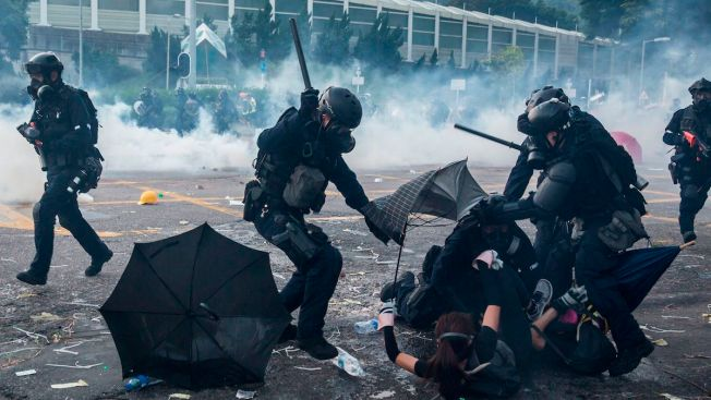 Police Shoot Hong Kong Teen During China National Day Protests