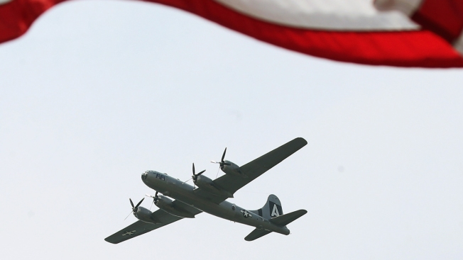 World War II-Era Planes Fly Over D.C.-Area Military Landmarks Friday