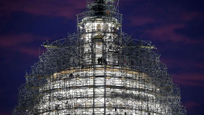 Scaffolding on the US Capitol Is Coming Down