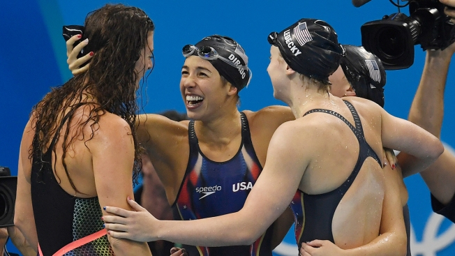 Ledecky Brings Home Gold for US in Freestyle Relay