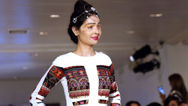 Acid Attack Survivor From India Walks Runway in New York Fashion Week