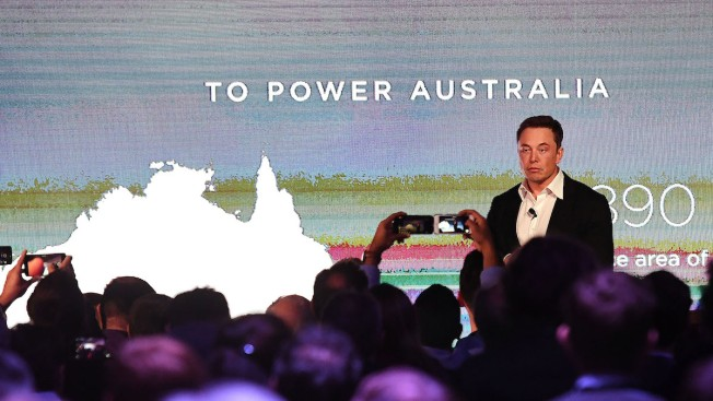 Giant Tesla battery starts early
