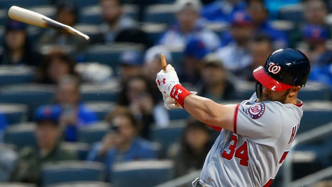 Nationals Win After Bryce Harper Breaks Bat in Two on Long Home Run