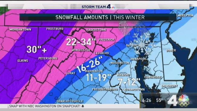 Winter Weather Forecast 11 19 Of Snow Expected In Dc Nbc4 Washington