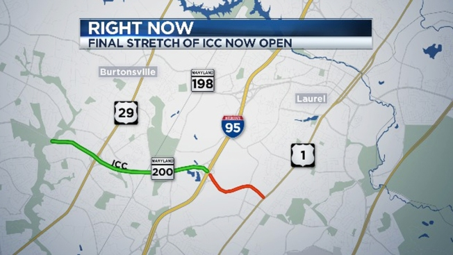 Last Stretch of Intercounty Connector Now Open
