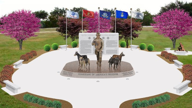 New US Monument Honors Military Service Dogs