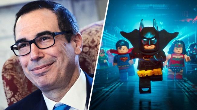 Mnuchin: Joke About 'Lego Batman Movie' Was Mistake