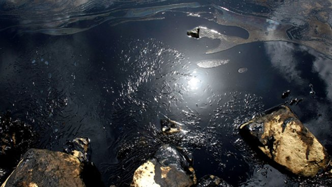 Crews Cleanup Oil Spill in Galveston Bay