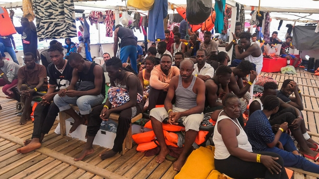 Spanish Aid Boat Blocked by Italy Rescues 39 More Migrants