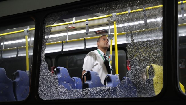 Rio Authorities Step up Security After Bus Windows Shattered