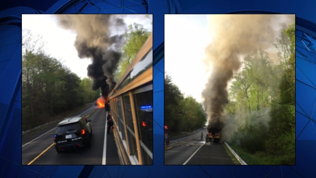 Bus Full of Students Catches Fire Near Md. Middle School