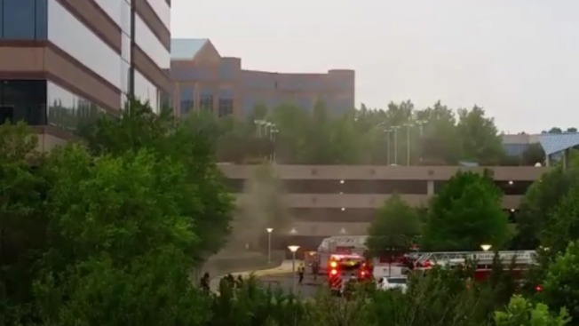 Time Warner Building Catches Fire in Virginia