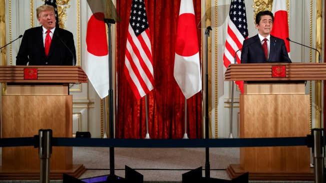 Trump Breaks With Abe, Says He's Not Bothered by NK Missile Tests
