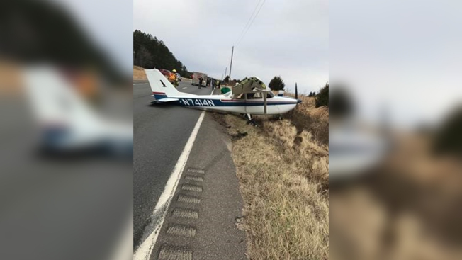 Small Plane Makes Emergency Landing on Virginia Highway