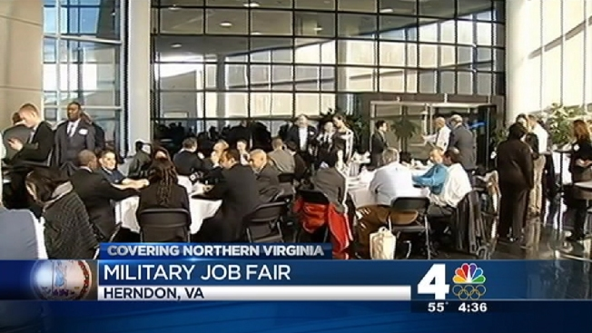 Employers Approach Veterans at Va. Job Fair