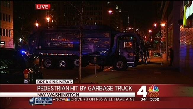 Pedestrian Fatally Struck by Trash Truck in D.C. - NBC4 ...