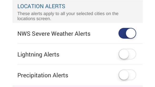 Weather Alerts: How to Set up Location Alerts in App Version 5 5
