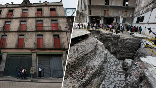 Photos: Aztec Temple Discovered Underneath Hotel in Mexico City
