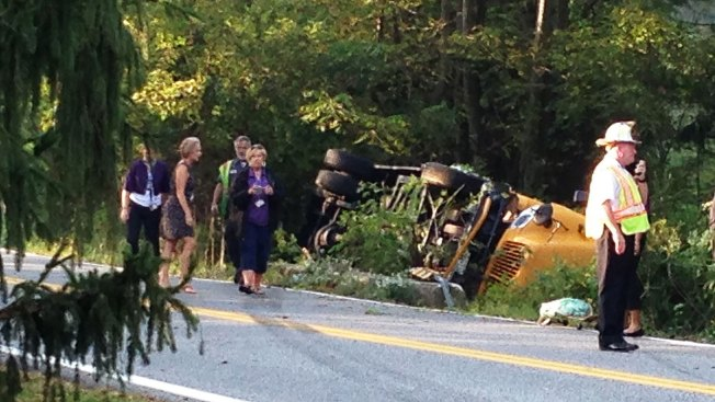 Baltimore School Bus Overturns; 6 Taken to Hospital