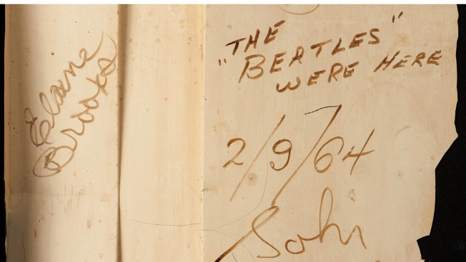 No Sale for Signed Beatles Item at NYC Auction