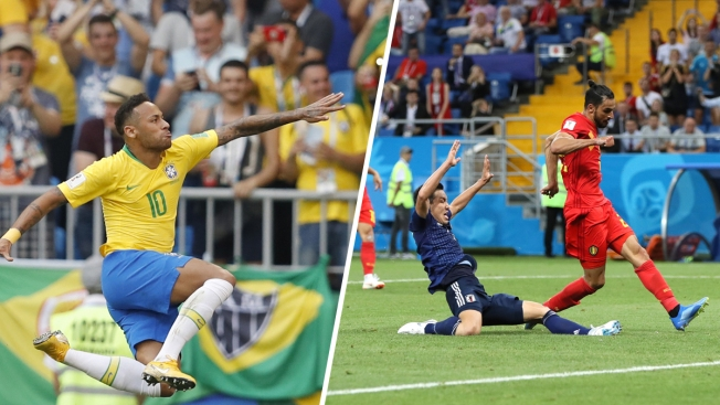 World Cup: Brazil's 2 Goals Knock Out Mexico, Belgium Beats Japan