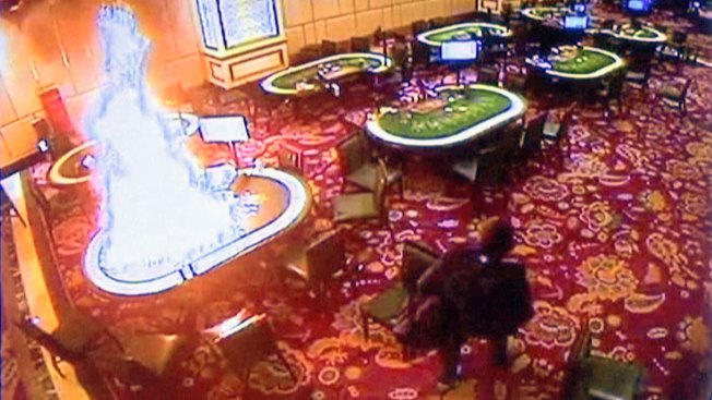 Security Footage Shows Rampaging Gunman in Casino Attack