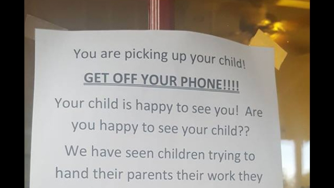 Texas daycare to parents: 'Get off your phone'