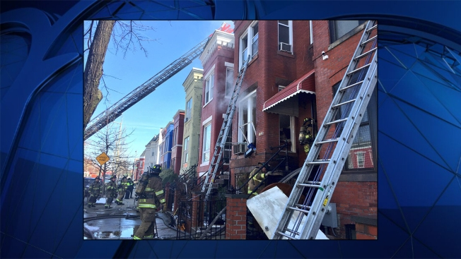 DC Rowhouse Fire Displaces 4 Adults, 3 Pets