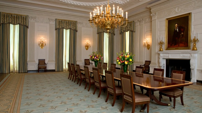 First Lady Gives New Look to State Dining Room