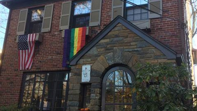 Pence Welcomed to DC Neighborhood With Gay-Pride Flags