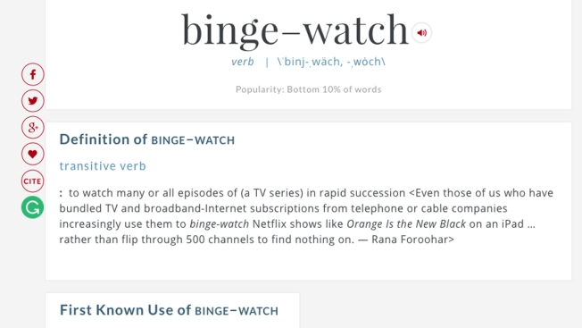 Merriam-Webster Makes 'Binge-Watch' Official as It Adds 1,000 Words
