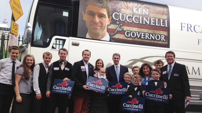 TV's Duggar Family Campaigns for Cuccinelli in Woodbridge Wednesday